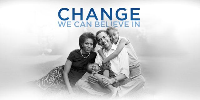 La intro del sito di Obama