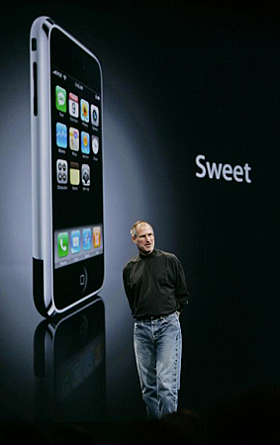 Steve jobs e l'iphone