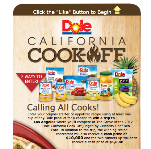 concorso ricette dole fb