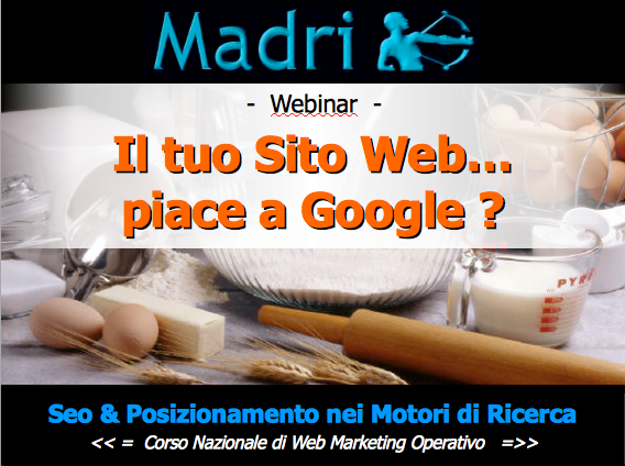 Webinar gratuito seo in video
