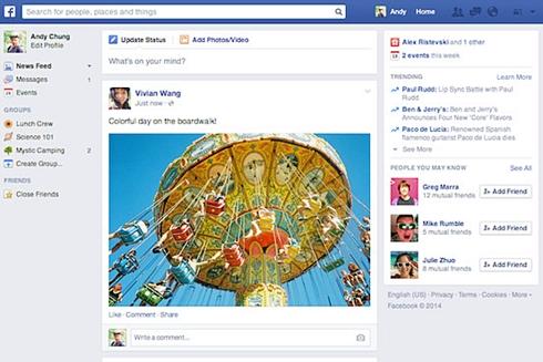 Nuovo design per il nerws feed di facebook
