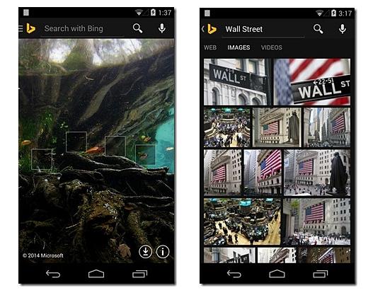 Bing aggiorna la sua app per android