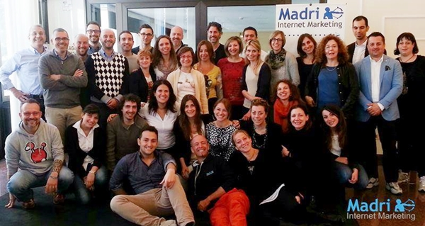 Foto di gruppo al corso di madri internet marketing a maggio 2014