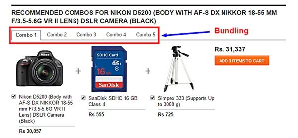 esempi di bundling nell'e-commerce