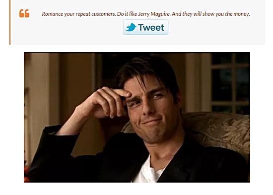 tweet upsell