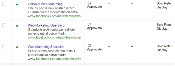 screenshot-test-promozione-facebook-su-adwords