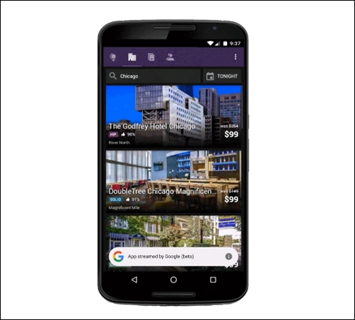 Google e Android progettano le app in streaming