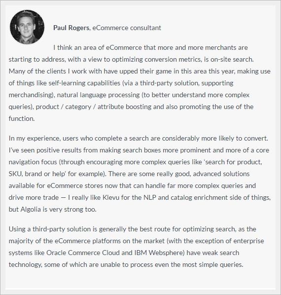Pareri esperti su ottimizzazione siti ecommerce