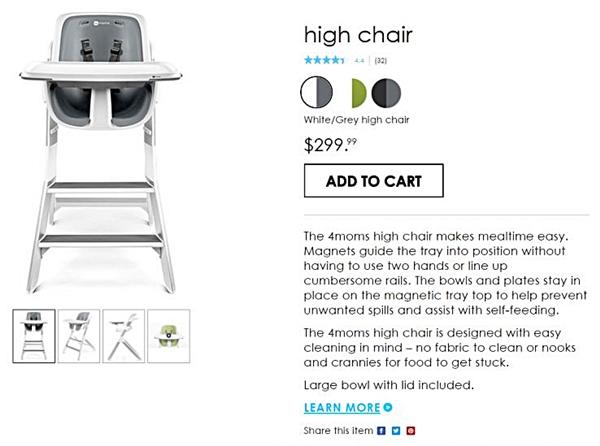 esempio di scheda prodotto su sito ecommerce