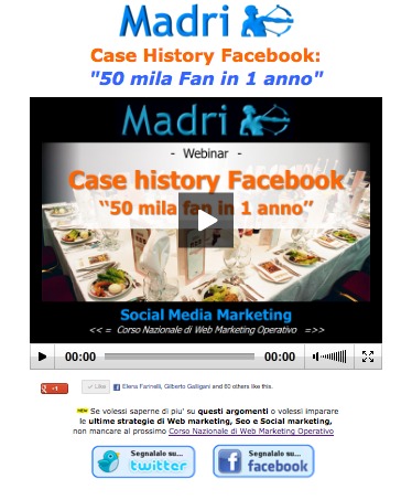 Video Webinar: come ottenere 51.000 fan su Facebook in 1 anno