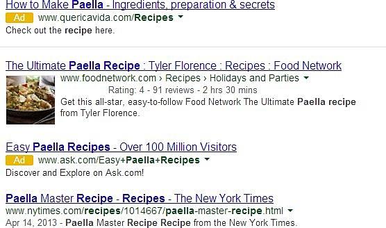 Blocchi annunci google