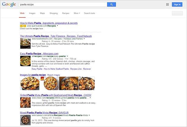 Screenshot ricerca