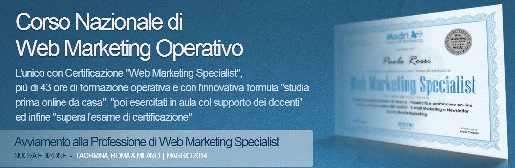 Nuova edizione del corso nazionale di web marketing operativo con una nuova sede: Taormina