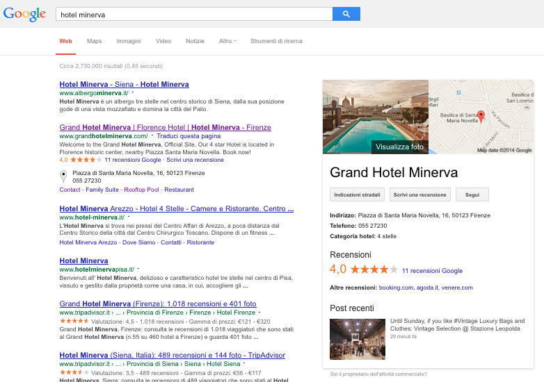 google plus local hotel