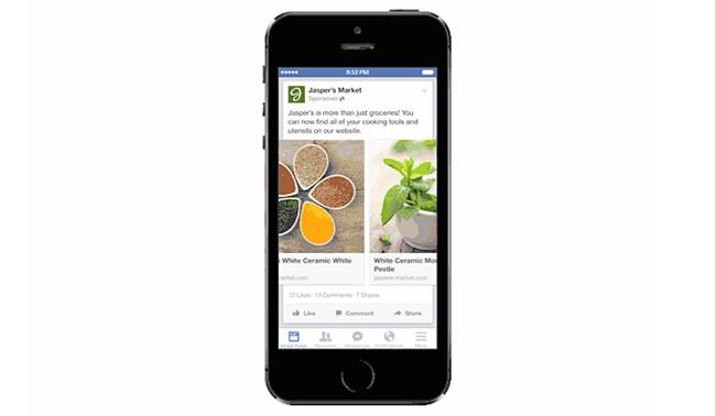 Facebook annuncia gli ads multiprodotto