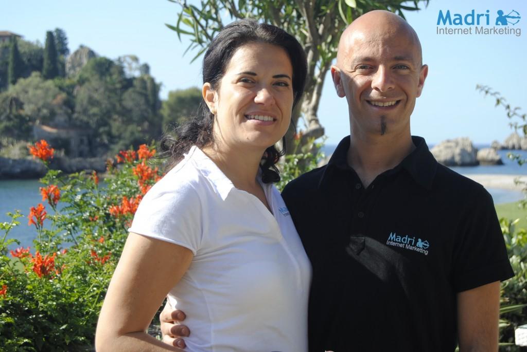 Elena Farinelli e Luca Catania di Madri Internet Marketing