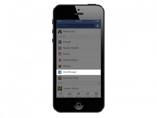 facebook ads manager per mobile