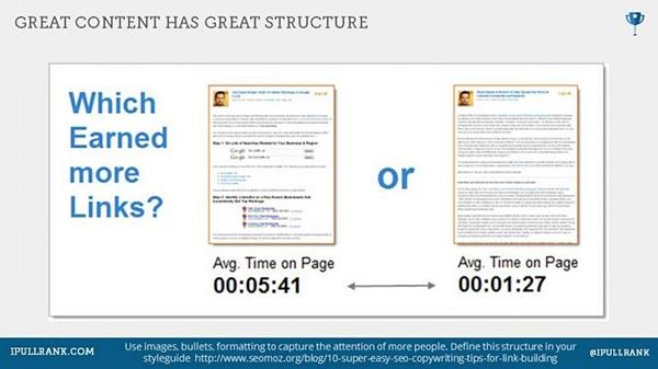 i grandi contenuti hanno una grande struttura
