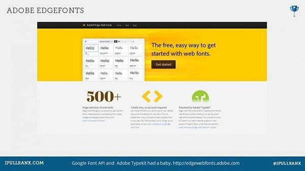 Adobe edgefonts
