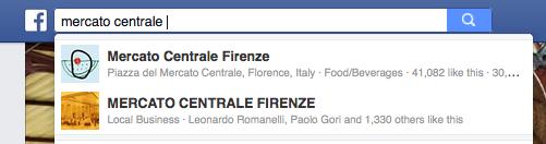 esempio su FB mercato centrale