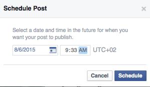 Come programmare i post su facebook