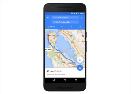 google lancia la navigazione offline sulle mappe