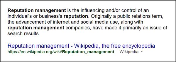 definizione di reputazione online