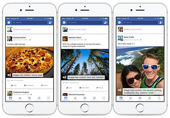 Nuova funzione per leggere le immagini su Facebook